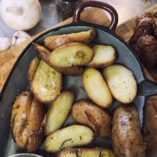 Roasted potatoes, beer can chicken | Kookstudio Etenschap Valkenburg